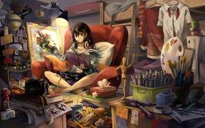 Wallpaper anime, asian, girl, oriental, bishojo, asiatic, japanese, headphone