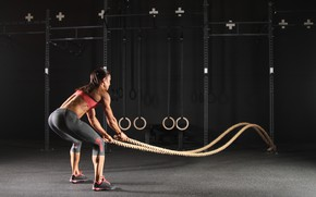 Picture fitness, gym, rope