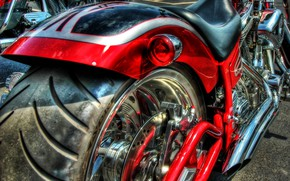 Picture red, engine, wheel, motorcycle, rubber, chrome and black