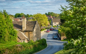 Picture road, auto, street, England, home, street, houses, England, Lacock