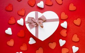 Picture background, holiday, gift, hearts, Valentine's day, Valentine's day