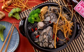 Picture root, sticks, broccoli, Seafood