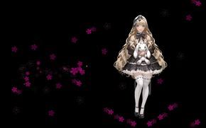 Picture toy, anime, art, girl, stockings, Bunny, bow, children's, Goddess, Daeho Cha