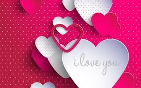 Picture love, pink, heart, 2017, Valentine