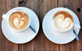 Picture foam, heart, figure, coffee, Cup, cappuccino