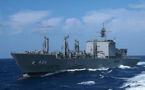 Picture wave, the ocean, ship, transport logistics