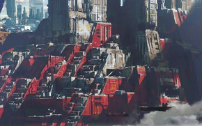 Picture the city, facilities, Exoplanet, Strike Vector EX, Red city