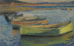 Picture picture, seascape, Henri-Jean Guillaume Martin, Henri Matrin, Boats on the Outskirts of Collioure