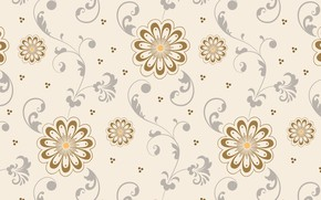 Picture background, pattern, Flowers, Texture units, beige