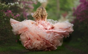 Picture mood, dress, girl, curls