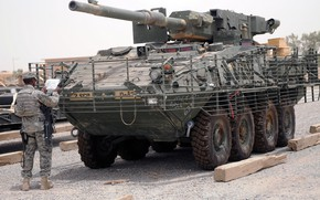 Picture US Army, armored, armored vehicle, armed forces, M1128 Stryker MGS, Styker