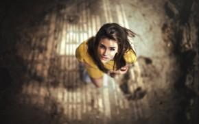 Picture look, makeup, hairstyle, brown hair, beauty, photoshoot, bokeh, looking up, Falak Ali