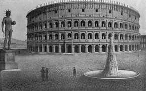 Picture Rome, antique, Amphitheatre, colosseum would have looked like, the heyday of the Colosseum