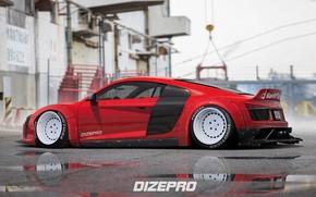 Picture Audi, Auto, Audi, Tuning, Car, Car, Auto, Drives, Side, Tuning, DizePro