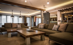 Picture comfort, tables, lighting, Living room