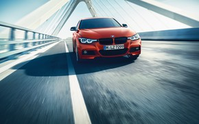 Picture bridge, movement, markup, BMW, the fence, F30, 3-series, a three-pointer, 3P