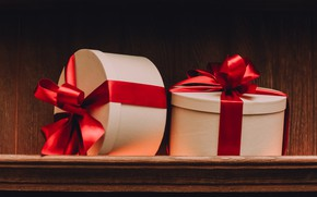 Picture gift, Holiday, bow, box