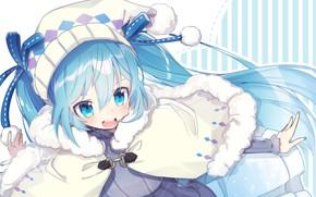 Picture vocaloid, hatsune miku, yuki miku