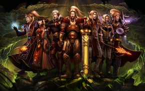 Wallpaper art, World of Warcraft, Warcraft, Dominion of the Sun, elf, wow