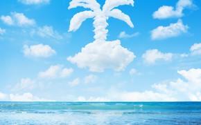 Picture sand, sea, clouds, Palma