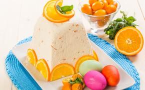 Wallpaper Easter, cheese, orange, eggs, cake