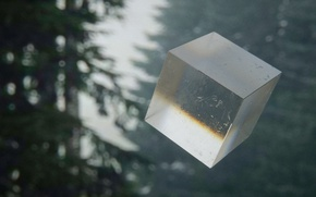 Picture forest, cube, Mountain mist, mark chang