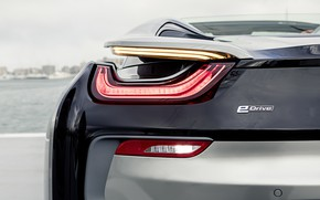 Picture light, grey, shore, headlight, BMW, Roadster, 2018, feed, i8, i8 Roadster