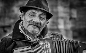 Picture music, people, accordion