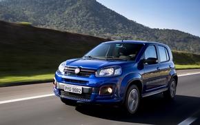 Picture auto, blue, movement, blue, Fiat, Motion, metallic, Uno sporting