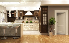 Picture design, the door, kitchen, wardrobe, Design, headsets, Interior, Kitchen
