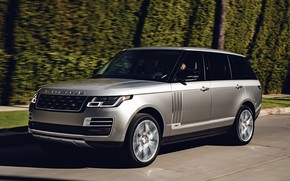 Picture road, grey, movement, Land Rover, Range Rover SV Autobiography