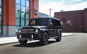 Picture Mercedes, AMG, Black, G63, Brick