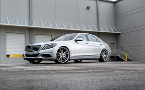 Picture Mercedes, wheels, S550, lowered, on 22, Zenetti