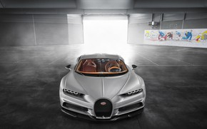 Wallpaper Sight, Bugatti, Turbo, Silver, W16, VAG, Chiron