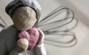Picture macro, heart, figurine
