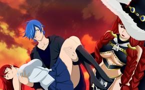 Picture anime, art, Fairy Tail, Gerard, Elsa, Fairy tail