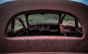 Picture machine, rust, scrap