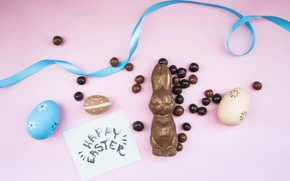 Picture chocolate, eggs, Tape, candy, Easter, Holiday, chocolate Bunny, Socket