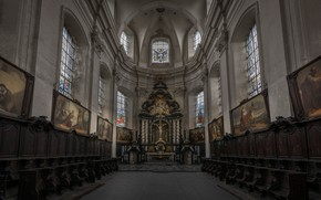 Picture Church, religion, the altar, bench, the nave