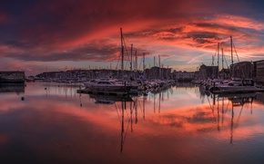 Picture boat, England, yacht, glow, harbour, Plymouth