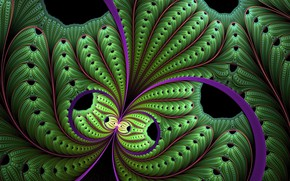 Picture fractal, green