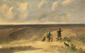 Picture oil, picture, canvas, genre, Johannes Taweret, Mr. Tamerat Caught The Poacher