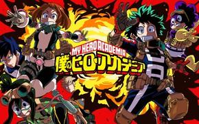 Picture anime, hero, manga, seifuku, kanji, japonese, Boku no Hero Academy, yussha, Deku, Todoroki, My Hero …