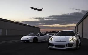 Picture Lamborghini, Porsche, 911 GT3, Huracan