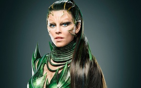 Picture green, cinema, girl, woman, blue eyes, movie, evil, film, Power Rangers, 2017, Power Rangers Rita …