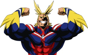 Wallpaper anime, super hero, My Hero Academia, hero, Toshinori Of Yak, All Might, powerful, Boku no ...