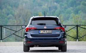 Picture road, forest, the fence, rear view, Fiat, universal, Tipo Combi
