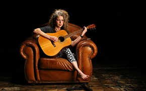 Picture music, woman, guitar, Marynell