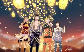 Picture Naruto, Haruno Sakura, Hyuuga Hinata, Uzumaki Naruto