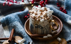 Wallpaper the sweetness, drink, cappuccino, marshmallows